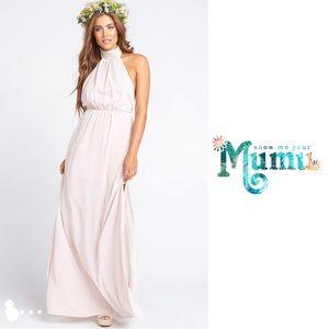 Show Me Your Mumu Collete Collar Dress in Blush